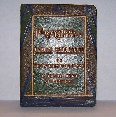 Patent 1923 Plaza Bank of Commerce book bank The Country Club Plaza