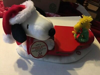 2009 Hallmark Jingle Pals Swinging With Snoopy And Woodstock NEW w Tags