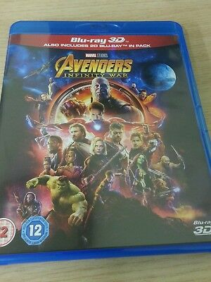 Marvel Avengers Infinity War - UK 3D Blu Ray 2 Disc Set Played Once !