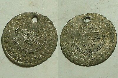 MAHMUD/1860AD/Rare Genuine Islamic billon coin/Ottoman Empire/Turkey Istambul 26