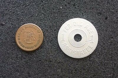 US 1930's tokens