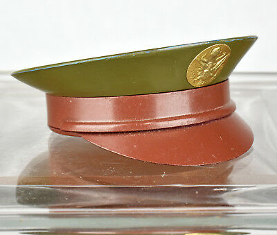 Vintage 1940s WWII Figural Military Army Hat Powder Compact Sweetheart Homefront