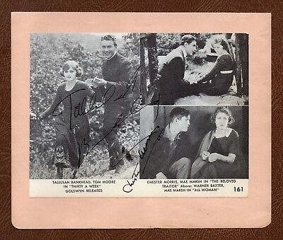 TALLULAH BANKHEAD & CHESTER MORRIS Hollywood Greats SIGNED PIC on ALBUM PAGE