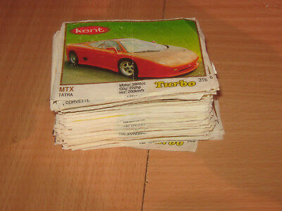 Bubble Chewing Gum Wrappers Turbo Kent Lot