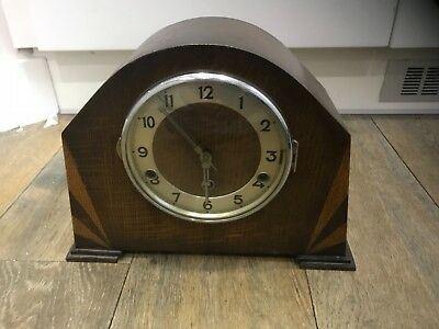 Antique Art Deco Westminster chime mantel clock fully working