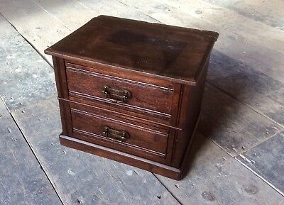 Antique Victorian Miniature Watchmaker Chest Drawers,Jewellery Box,Trinket Case