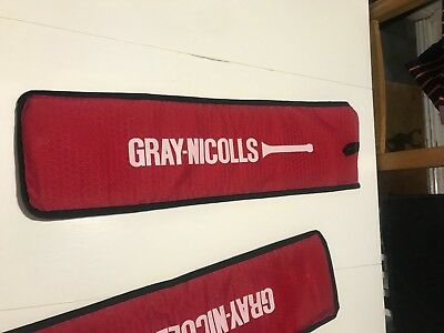 Gray-Nicolls cricket bat cover - new, unused without tags. Red with black trim