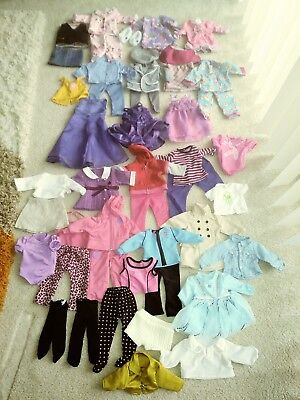 Lot Of Clothes, Shoes, & Hangers For American Girl & Other 18 Inch Dolls 56 Pcs.