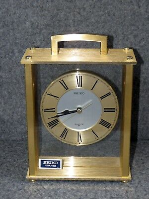 Seiko Quartz Brass  Mantle Clock – Model # QQZ893G - Never Used