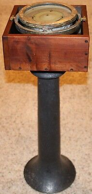 Vintage 1942 U.S. Navy Compass With Cast Iron Stand