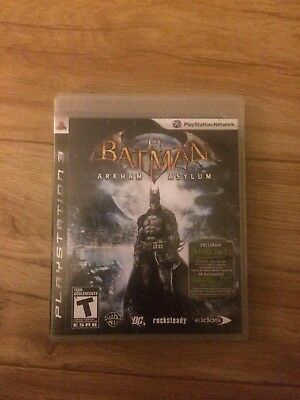 Batman: Arkham Asylum (Sony PlayStation 3, 2009) FREE SHIPPING