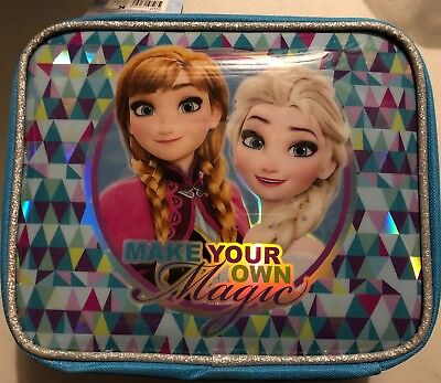 Disney Frozen Insulated Lunchbox Teal Elsa/Anna Make Your Own Magic
