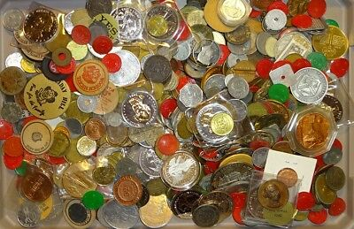 Well Mixed Lot Of (9 1/2) Lbs Exonumia Tokens Medals Etc.!!!!