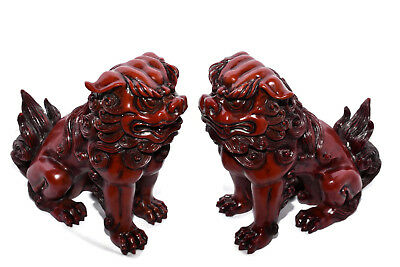"""New Pair (2) Chinese Oriental Foo Dogs Imperial Lions Fung Shui Statue Figure 8"""""""