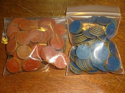 Lot Of (120) Mixed Opa Red And Blue Point Tokens.!!!!