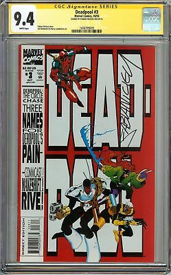 Deadpool #3 CGC 9.4 Signed FABIAN NICIEZA 1st app Executive Elite Circle Chase
