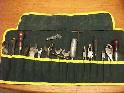 Classic Vintage Car Tool Kit Tools In New Canvas Tool Roll