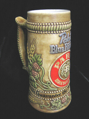 PABST BLUE RIBBON BREWERY TALL BEER STEIN -Nice!