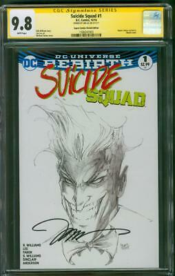 Suicide Squad 1 CGC SS 9.8 Jim Lee Signed Joker Turner Aspen Sketch Variant