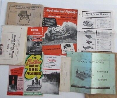 Lot Tractor Implement Brochures Isaacson Bulldozer Skibbe Brillion Pulverizers