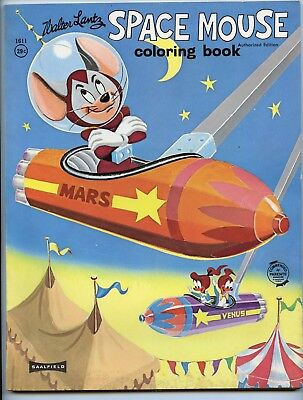 Vintage Space Mouse cartoon coloring book by Walter Lantz