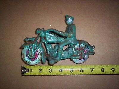 Champion Hubley Toy Cast Iron Motorcycle 7""