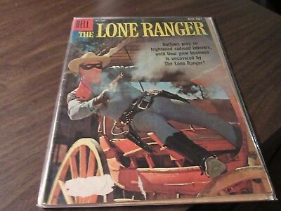 Lot of 7 Different The Lone Ranger DELL Vintage Western Golden Age 10 Cent Comic