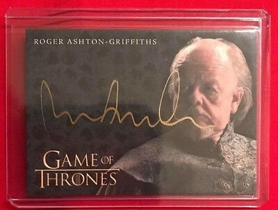 2017 Game of Thrones Valyrian Steel Gold Autographs Roger Ashton-Griffiths as Ma
