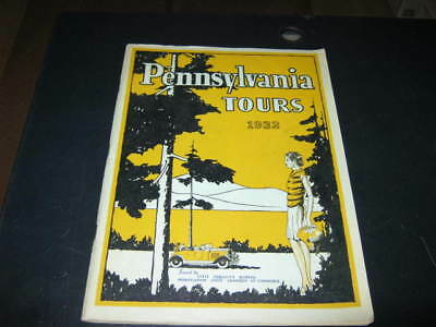 1932 GULF GASOLINE Map and Tour Booklet: Pennsylvania Tours Art Deco