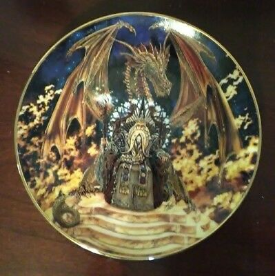 """Royal Doulton - """"Dragon Fire"""" Decorative Plate The Franklin Mint in Perfect Cond"""