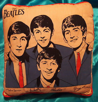 BEATLES 1964 Throw pillow- Nordic House-Red backing