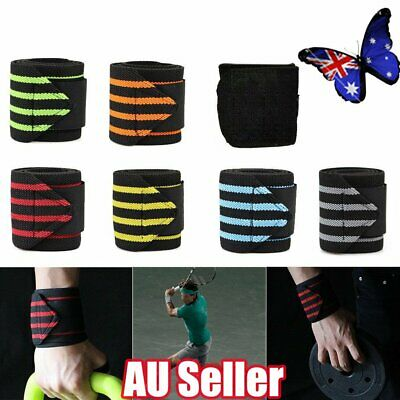 Wrist Wraps Straps Weightlifting Gym Training Wrist Support Straps Elastic JO