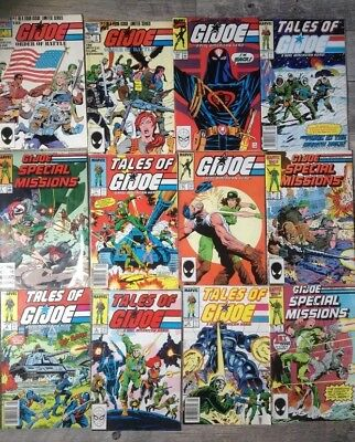 Lot of 12 1980's G.I. Joe Comics Special Missions Order of Battle Tales of ..