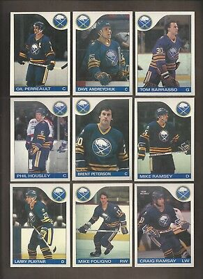 1985-86💎OPC Buffalo SABERS Team Set (12)💎O Pee Chee NM-MT Hockey Cards