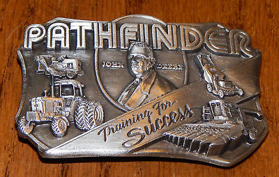 John Deere Pathfinder Training For Success 1985 Pewter Belt Buckle #913