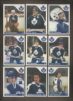 1985-86💎OPC Toronto MAPLE LEAFS Team Lot (10) 💎O Pee Chee NM-MT Hockey Cards