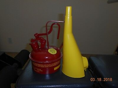 Eagle UI-2S  1/4 Gallon Galvanized Red Steel Safety Can with Funnel Made in USA