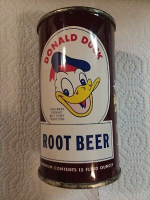 Donald Duck Root Beer Flat Top Can Excellent Canned In Indiana