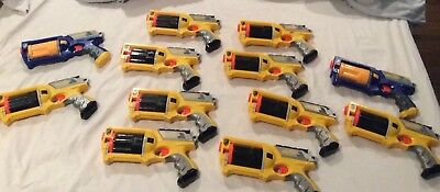NERF N-STRIKE Maverick REV-6 Dart Gun Lot of 12 Blaster Party Pack Birthday Wars