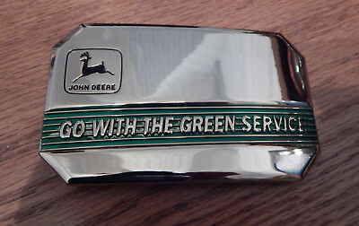 "John Deere ""go With The Green Service"" Belt Buckle 1990 Moline Il"