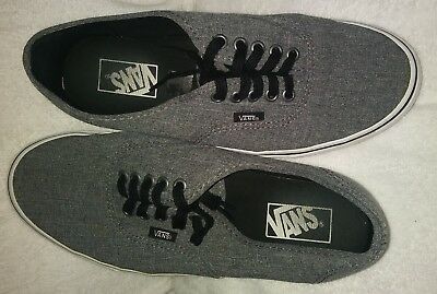 37a333290a Vans Off The Wall TB4R Dark Grey Canvas Skateboarding Shoe 8.5 Men 10 Women  Gray