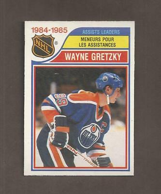 1985-86💎OPC Wayne Gretzky OILERS Most ASSISTS 💎O Pee Chee NM-MT Hockey Cards