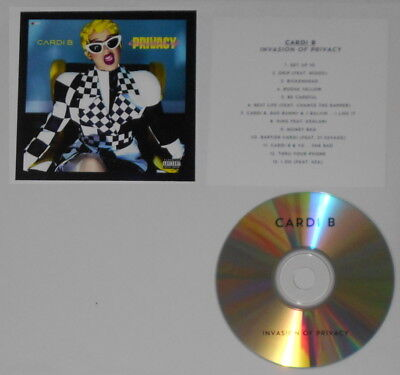 Cardi B  - Invasion of Privacy -  original U.S. promo cd