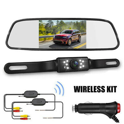 Wireless Backup Camera and 4.3'' Mirror Monitor Kit for Car Rear View HD System