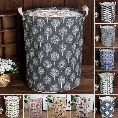 Laundry Hamper Clothes Basket Cotton Waterproof Washing Bag Foldable Storage