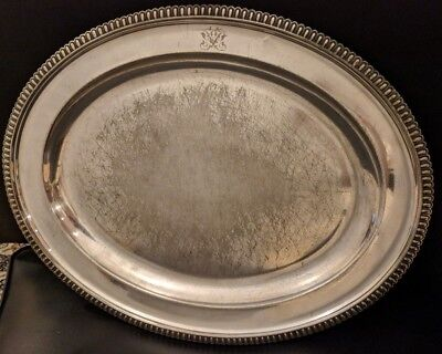Large Antique English Elkington & Co. 1890 Serving Tray 1A 3711