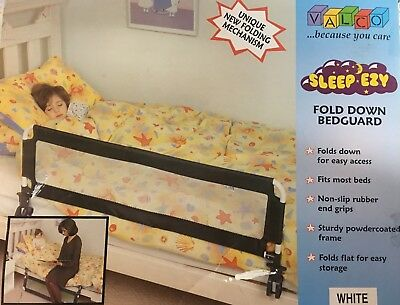 Sleep ezy fold down bedguard navy fabric/ colour Brand new