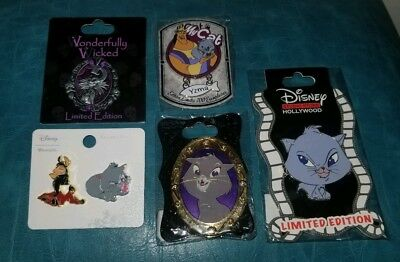 Lot Of 5 New Disney Yzma Cat Limited Edition Pins Big Head Kitties Wicked Kuzco