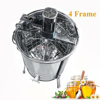 Stainless Steel Large 4 Frame Honey Extractor Electric Beekeeping Equipment Tool