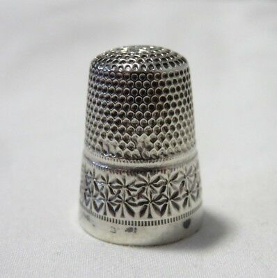 Vintage Gabler Germany 800 Sterling Silver Thimble